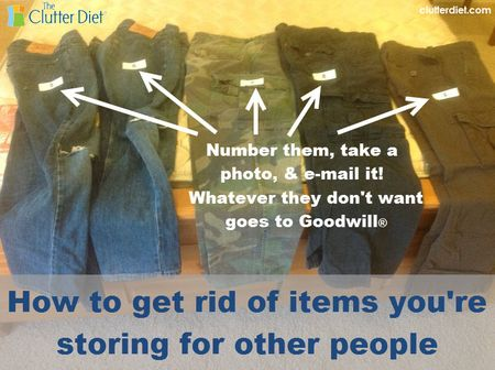 How to Get Rid of Items You're Storing for Other People